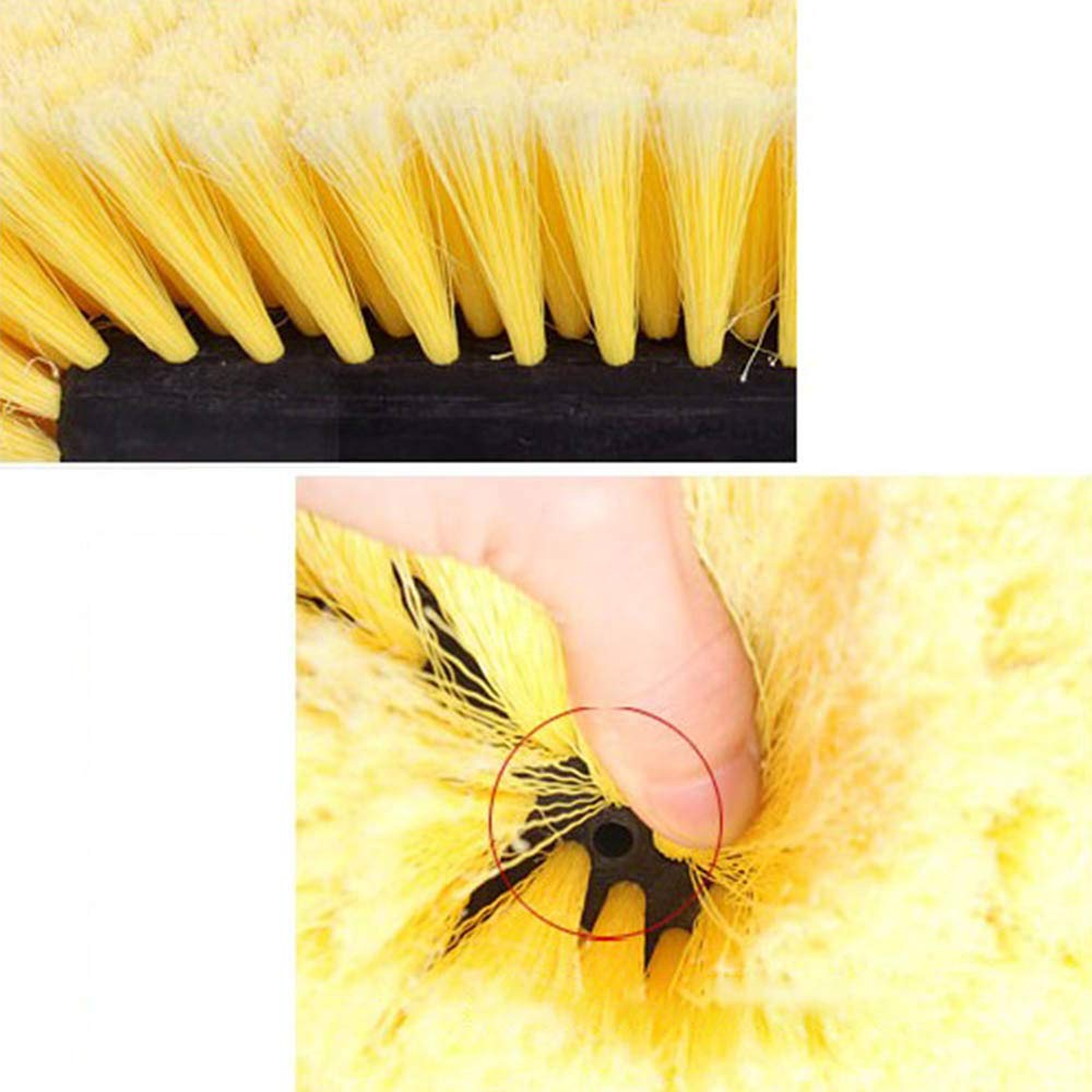 TREA2SURE Car Soft Wash Brush Head,Duty Dip Brush Head for Auto Truck Exterior Washing Cleaning,Yellow