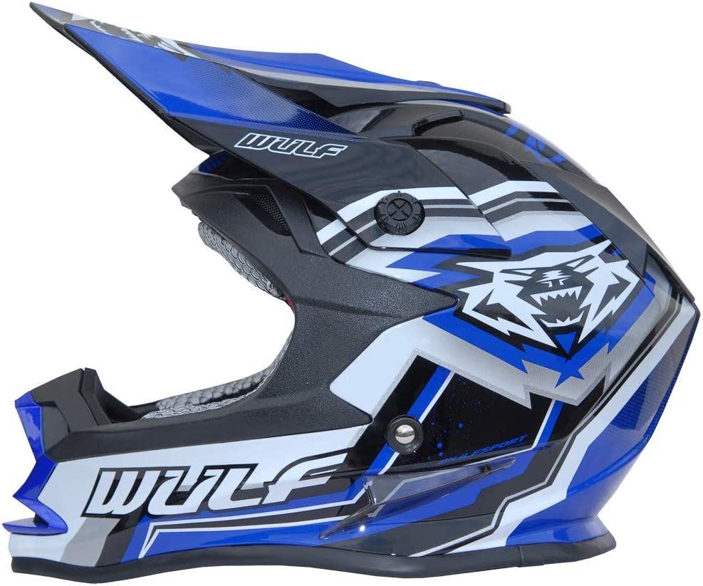53-54cm Wulfsport Vantage Adult Mx Helmet Motorcycle Motocross Quad ATV Sports Enduro Motorbike Helmet /& Wulfsport Stratos Adult Gloves Black XS