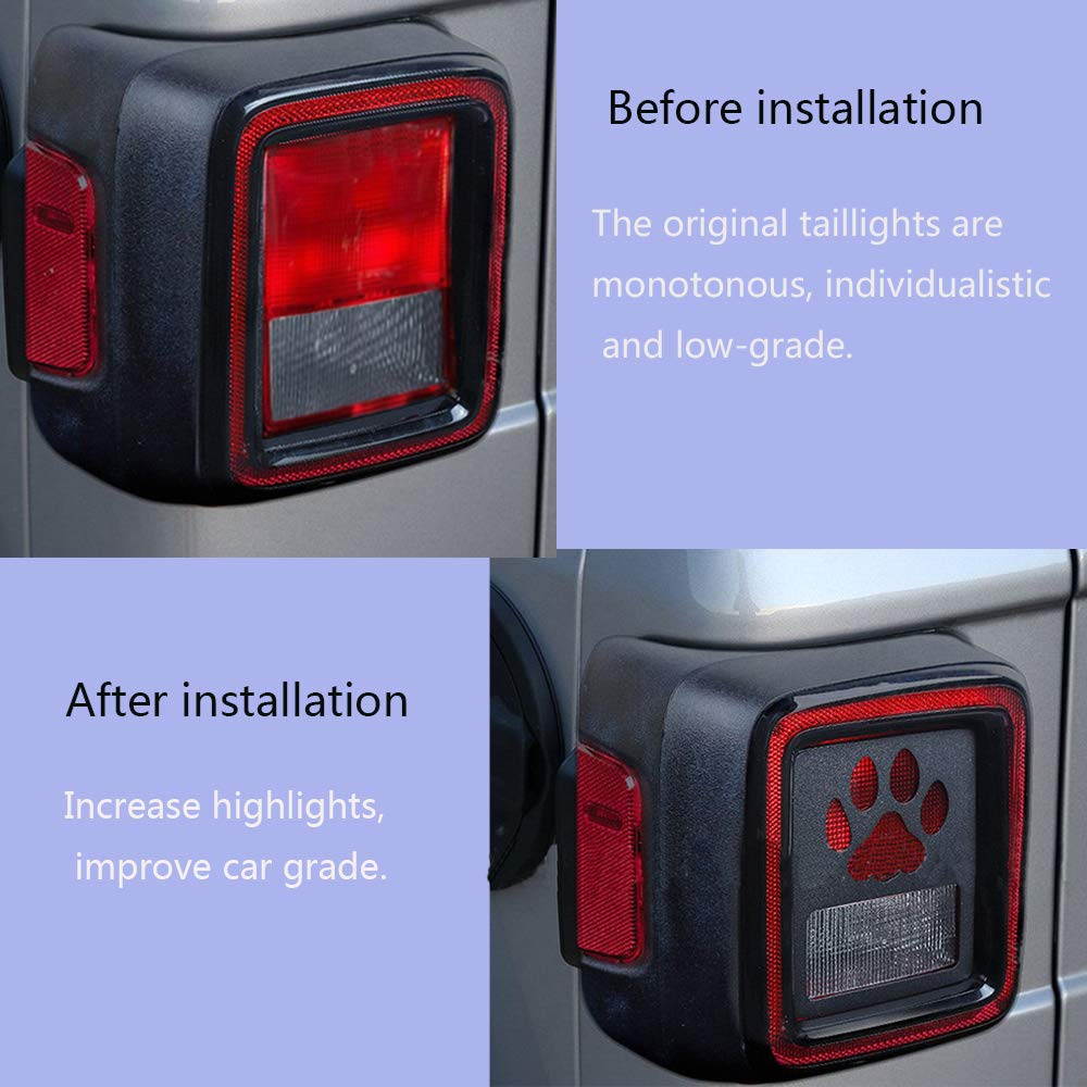 car auto parts Jeep Rear Light Guard Cover Protector Compatible for Wrangler 2018 High-end Version