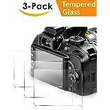 Glass Screen Protector Nikon D3400 D3300 D3200 D3100 DSLR Camera, QIBOX Anti-Bubble Anti-Scratch Anti-Fingerprint Ultra-Clear 9H Tempered Glass Shield[3 Packs]