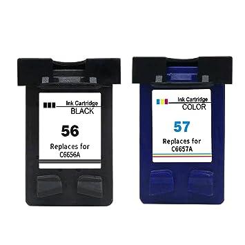 Ksera Remanufacturado HP 56 HP 57 XL Cartucho de Tinta, 2 Paquetes ...