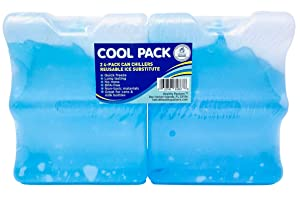 Long Lasting Ice Pack - Great for Breastmilk Bottles Storage and Can Coolers | 4-Can (2 Pack)