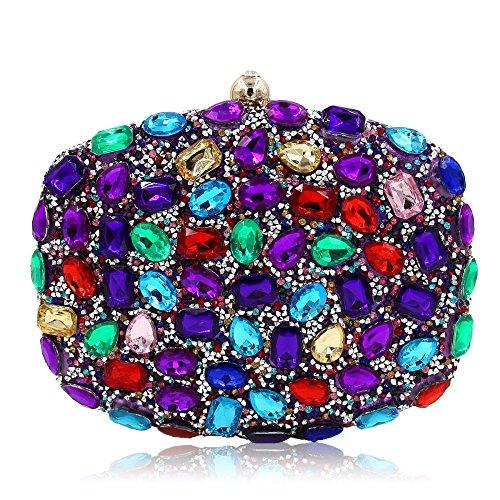 femmes d'embrayage main main à clubs strass Shimmer main soirée sac de sac Sacs Purple mariage les de de pour à les à partie sacs pour xqZpH75wz