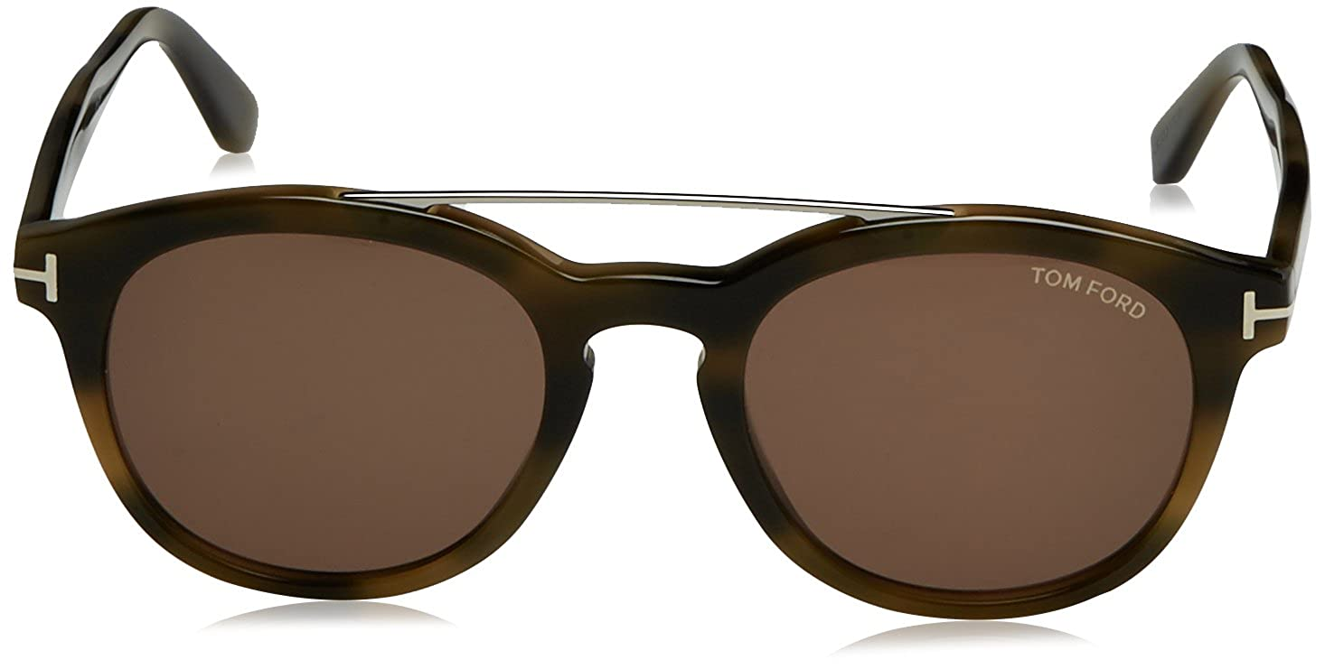 52436968c3342 Tom Ford Lunettes de soleil FT0515 SUNGLASS PANT DARK GREEN BROWN HAVANA  WITH BROWN
