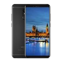 "Vernee M6 Smartphone 4G Android 7.0 18:9 Pantalla Completa 5,7"" HD Teléfonos Móviles 3300mAh 6,9 mm delgado y ligero OctaCore 13MP +16MP Cámara 4GB RAM +64GB ROM Dual 2.5D Curvada Diseña Huella Digital OTG Negro"