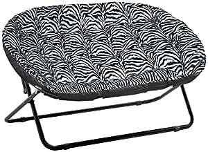 Amazon Com Urban Shop Double Saucer Chair Zebra Royal