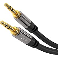 KabelDirekt Pro Series 3 feet 3.5mm Audio Aux Cord, 24k Gold-Plated, Male to Male Auxiliary Cable for Car, Home Stereo…