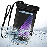 Waterproof Case Cellphone Diving Pouch for Samsung Galaxy A8 Star/J3/On6/J8/J4/J6/S Light Luxury/S8 Lite/S Lite/A6+/A6/J7 Prime 2/J7 Duo/S9/S9+/J2 Pro/On7 Prime/A8+/A8/Note 8/C7/S8 Active/J5(Black)