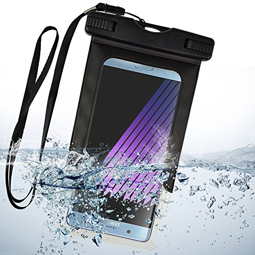 Waterproof Case Cellphone Diving Pouch for Samsung Galaxy A8 Star/J3/On6/J8/J4/J6/S Light Luxury/S8 Lite/S Lite/A6+/A6/J7 Prime 2/J7 Duo/S9/S9+/J2 Pro/On7 Prime/A8+/A8/Note 8/C7/S8 Active/J5(Black) by SumacLife