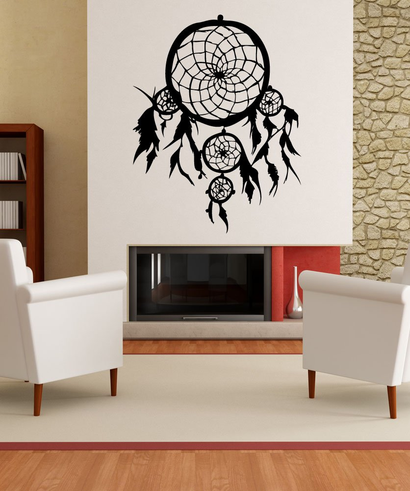 Amazon stickerbrand american indian vinyl wall art dream amazon stickerbrand american indian vinyl wall art dream catcher wall decal sticker multiple colors available 36 x 28 easy to apply removable amipublicfo Gallery