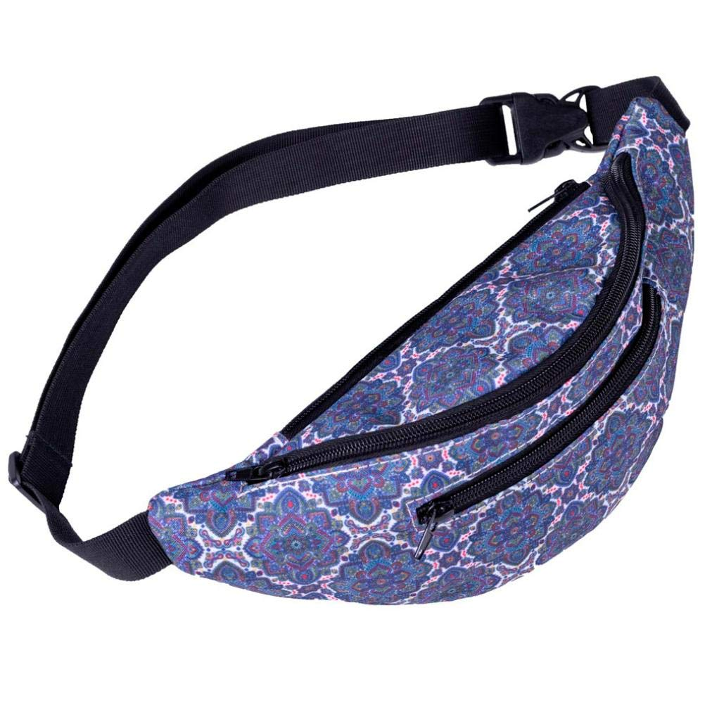 Geetobby Fashion Women Wristlets Pattern Waist Bag Gym Fitness Chest Package