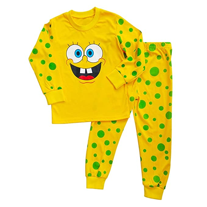 ac50f1f025 Boys Fall Winter Spongebob Squarepants Nightgown Sleep Pants Pajama Sets  (2y)