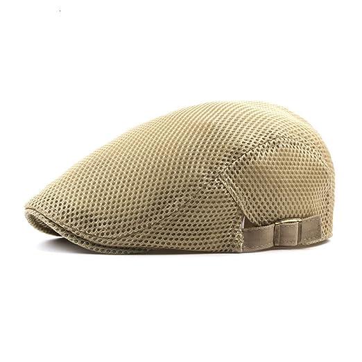 4e56e0708a Zhuhaitf Mens Womens Breathable Beret Ivy Cap Soft Casual Summer Hat ...