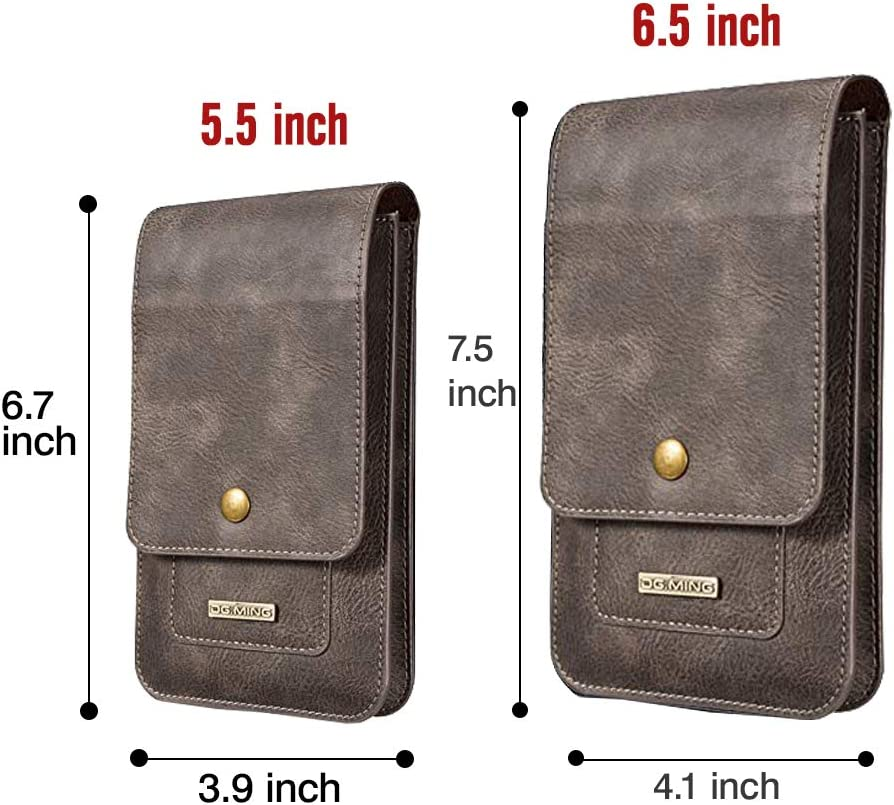Men Carrying Case Cellphone Holster Leather Belt Clip Pouch Vertical Waist Wallet Purse for iPhone XS Max//XR//XS//X,Samsung Galaxy S10//S10 Plus//S10 Lite//Note 9//S9//S9 Plus,Google 6.5,Coffee