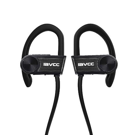 Auriculares Bluetooth Correr, IAVCC Cascos Running Deportivos Inalámbricos a Prueba de Sudor(Bluetooth 4.1