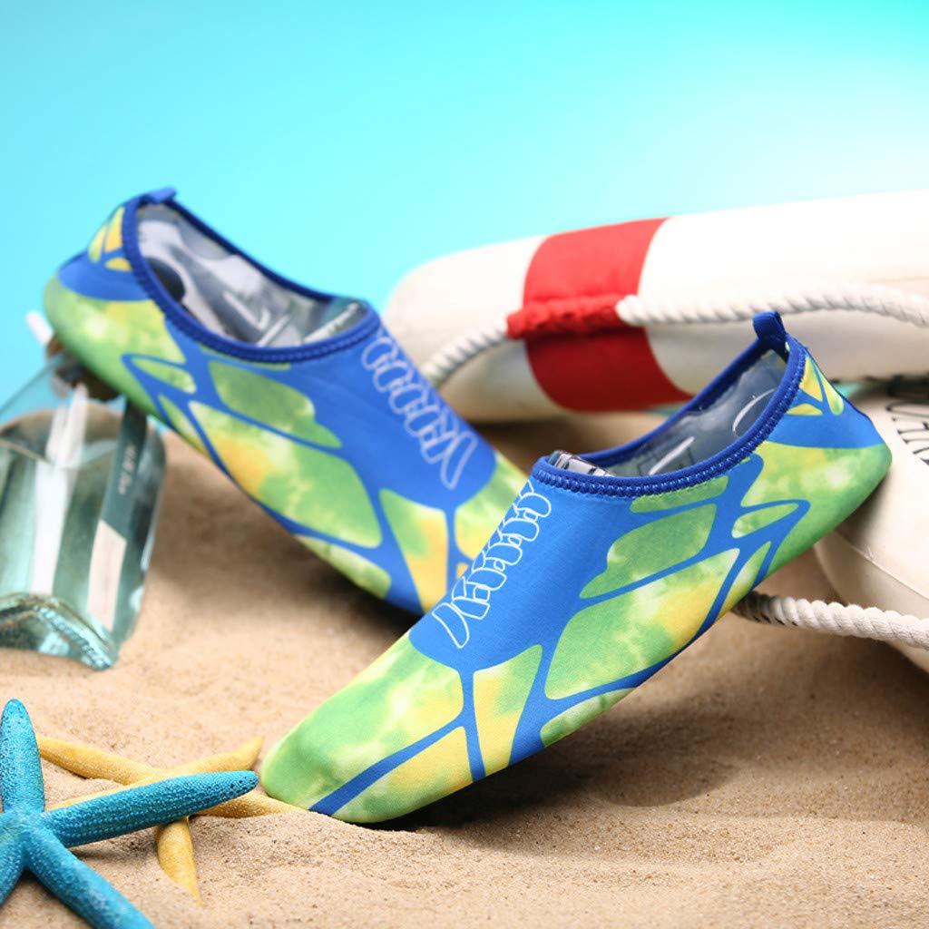 LMRYJQ Summer Outdoor Leisure Couple Flats Beach Pool Sea Swim Surf Non-Slip Water Shoe