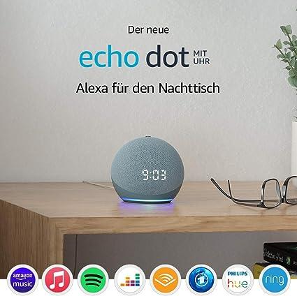 Der Neue Echo Dot 4 Generation Smarter Lautsprecher Mit Uhr Und Alexa Blaugrau Alle Produkte