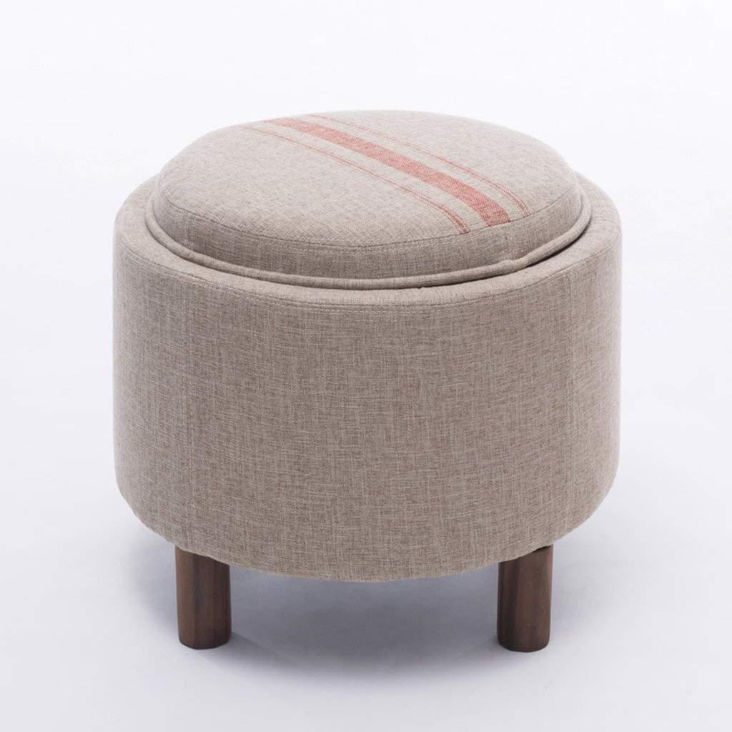 ZDXMZ Stools Wood Storage Box Fabric Table Sofa Sofa Shoes Storage (Color : D) by ZDXMZ