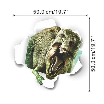 307aaea0757a4e zuolanyo Ulan stéréoscopiques 3D Motif dinosaure Sticker mural enfants  Chambre Stickers Muraux Salon fenêtre verre décoratif