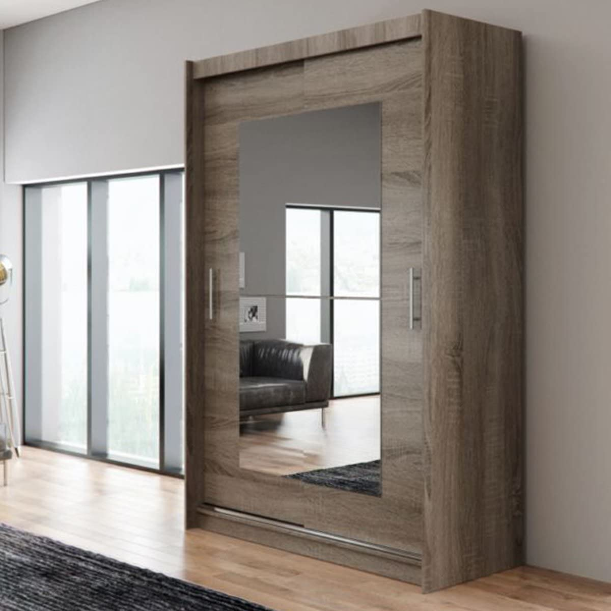 Nuevo moderno armario Ava 12 dormitorio espejo puertas correderas ...