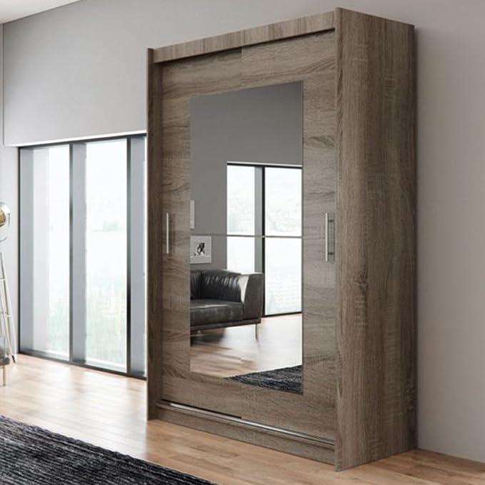 Nuevo moderno armario Ava 12 dormitorio espejo puertas correderas 150 cm/1,5 m: Amazon.es: Hogar