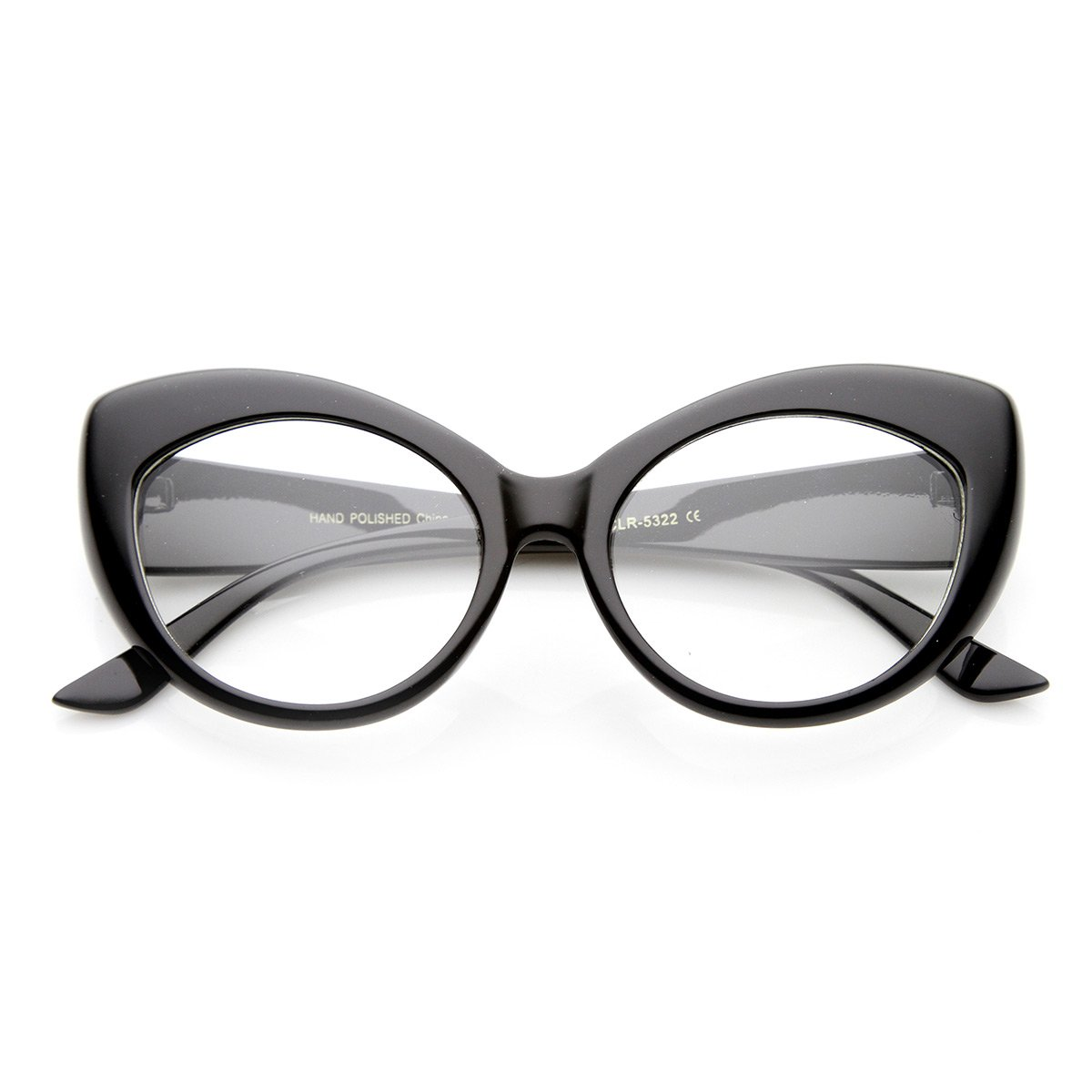 2c26c935e965e Amazon.com  Mod Pointed Cat Eye Clear Fashion Frame Glasses (Cheetah  Clear)  Clothing