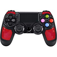 Controller PS4 wireless di alta qualità con DoubleShock 4 e batteria agli ioni di litio con 1000 mAh di capacità per PlayStation 4. Compatibile con PS4/Slim/Pro, Windows e PSTV/SMART TV (Rosso)