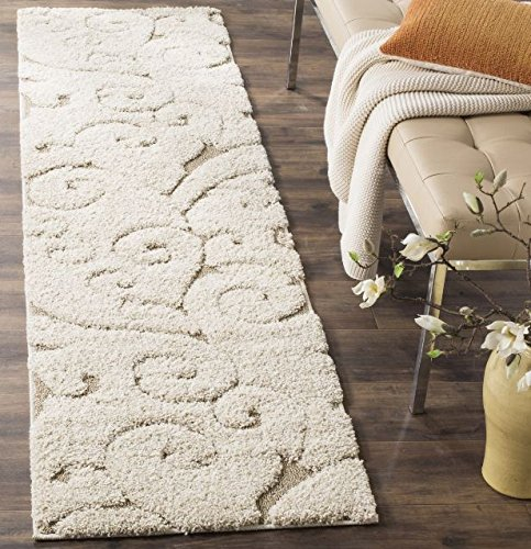 Amazon.com  Runner Rug Elegance Cream Area Rug 2 3 x 7  Indoor Rug Scroll  Shag Modern Design rugs for any space in the home rugs for women Carpet   Kitchen   ... 552d47e2b