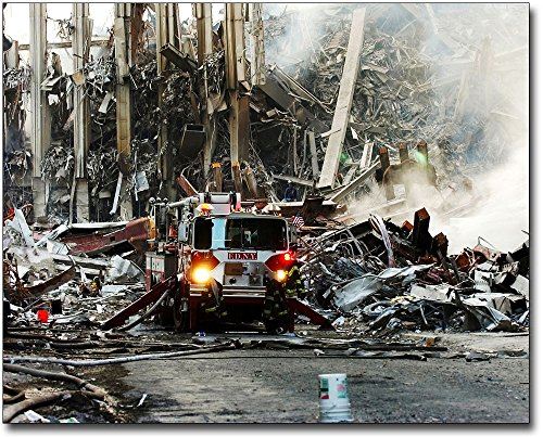 9/11 FDNY Fire Engine at WTC Ground Zero 8x10 Silver Halide Photo Print