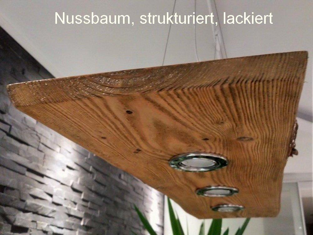 Deckenlampe Holz Hangelampe Rustikal Led Vintage Set Leuchte Eiche