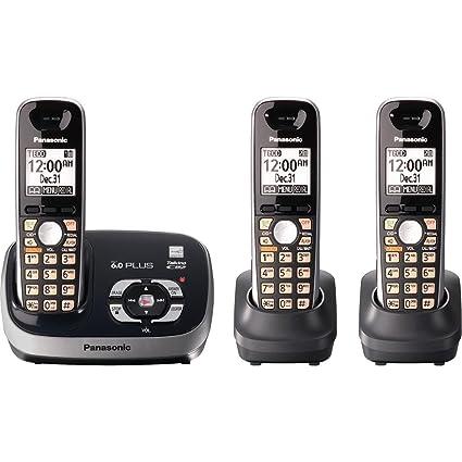 amazon com panasonic kx tg6533b dect 6 0 plus expandable digital rh amazon com  panasonic kx tg6643b manual