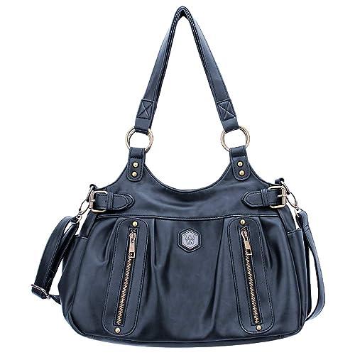 35faad31ac84e Amazon.com  WYN Fashion Top Handle Shoulder Bag (Black)  Home   Kitchen