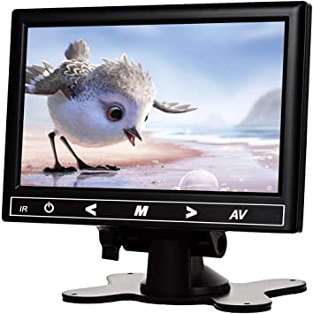 "TOGUARD 7/"" Security Monitor TFT LCD Display Screen CCTV HDMI//VGA Remote Control"