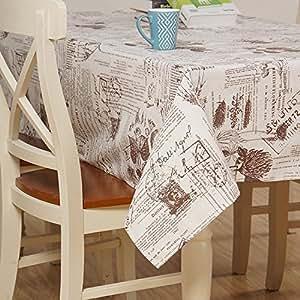 JY$ZB flor japonesa y matasellos de algodón y lino mantel de tela Decoración restaurante sala de mesa de té paño de tela Mantel para el banquete de Hogares del partido de la comida campestre , 140x180cm