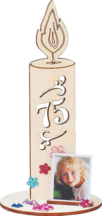 Holzbastelset Unsere Kerze Zum 75 Geburtstag Ist Eine
