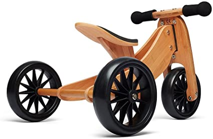 Speed Grey Kinderfeets Wooden Cargo Trike Outdoor Play /& Activity for Kids