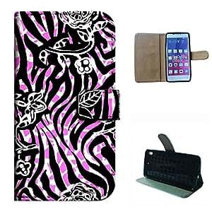 VIVO AIR/D980L case, SoloShow(R) BLU VIVO AIR/D980L 4.8 inch case High Quality PU Leather Wallet Flip case, Pink and zebra pattern (Pink)