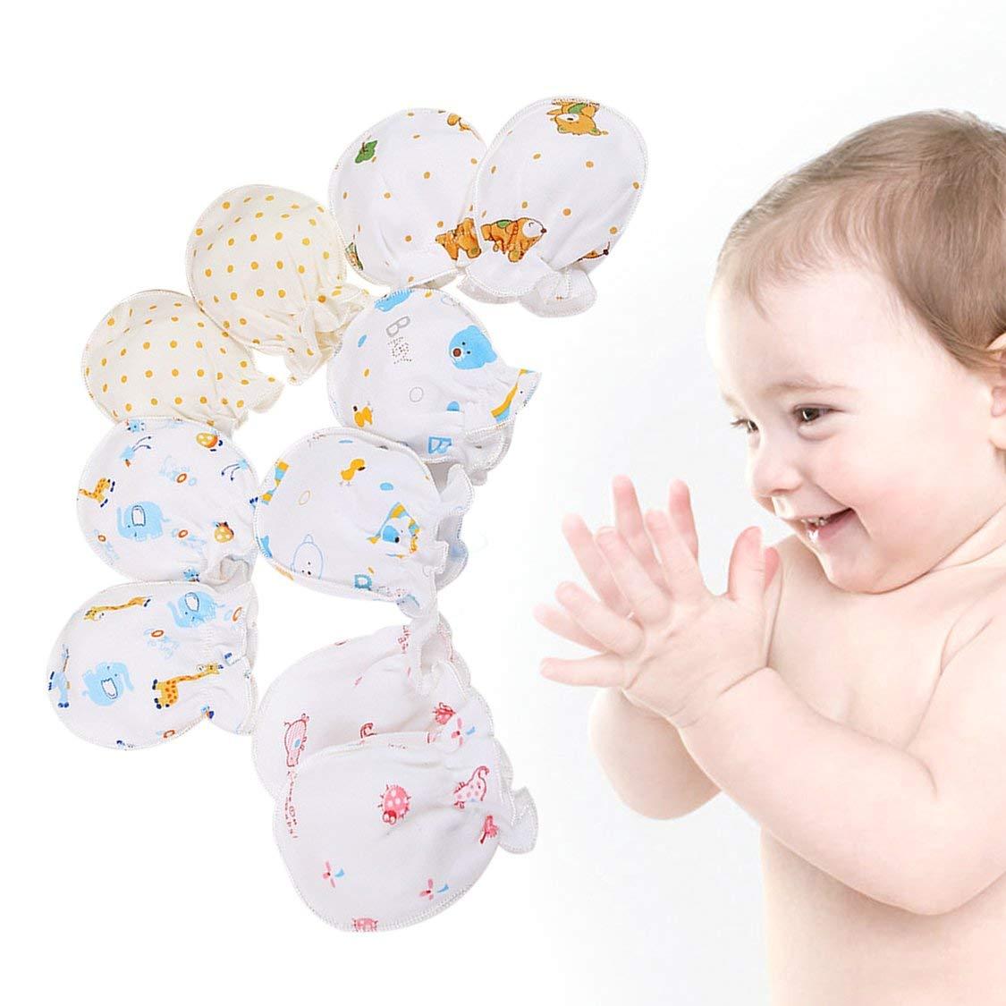 Winter Voll Baumwolle Neugeborenes Baby Jungen M/ädchen Anti Greifen Handschuhe Atmungsaktiv Warm Halten S/äuglingsgesicht Sch/ützen Handschuhe 0-3 Monate