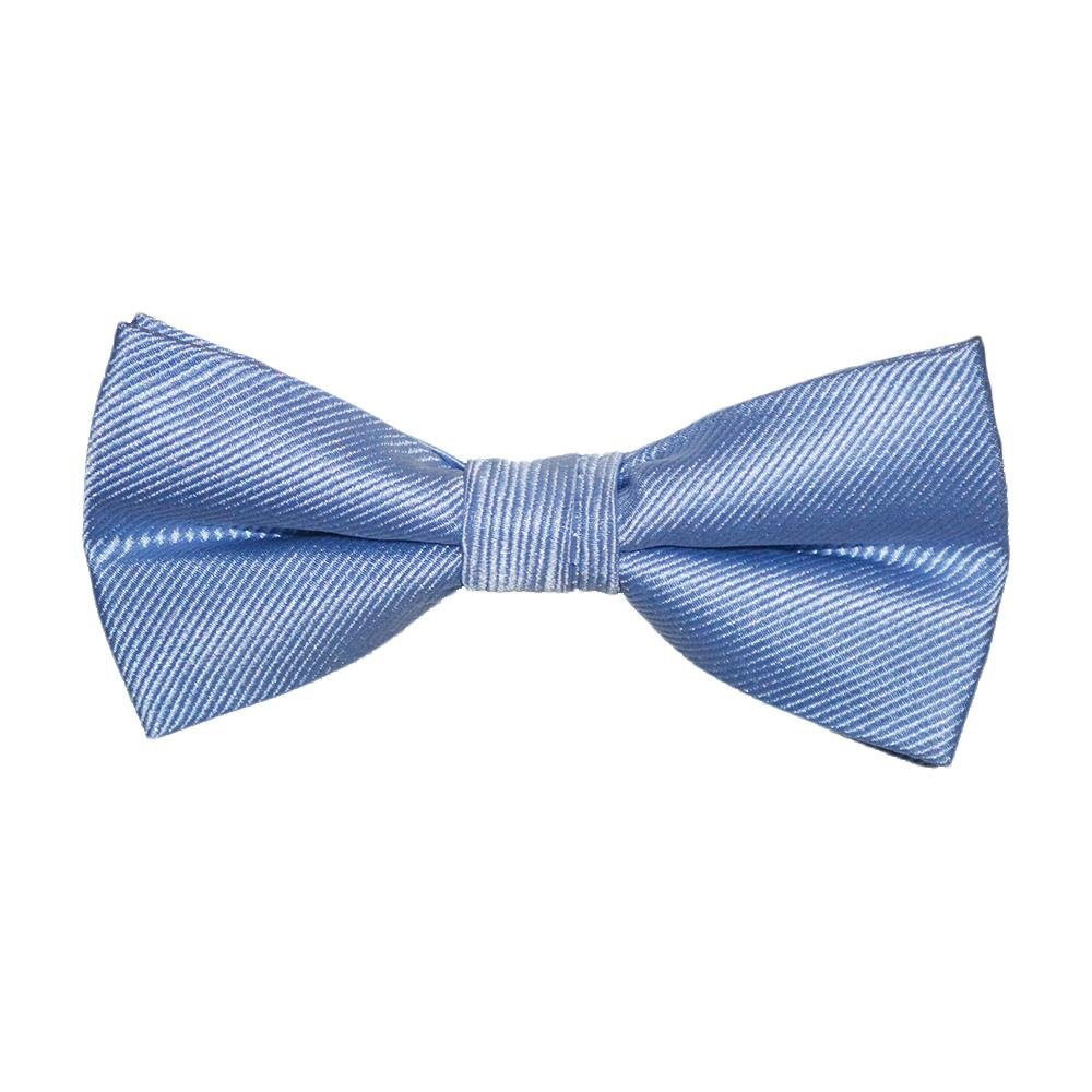 SummerTies Solid Color Kids Bow Tie - Light Blue, Woven Silk, Pre-Tied Kids Bow Tie