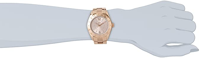 Amazon.com: Lacoste La Biarritz Rose Gold Dial Rose Gold Stainless Steel Ladies Watch 2000754: Watches