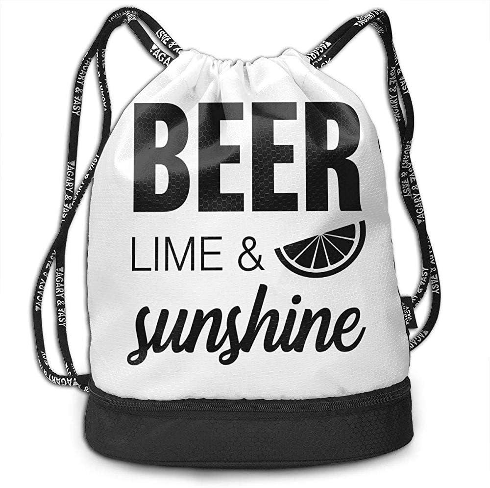 G.H.Y Mochilas con cordón Bolsas Cerveza Lima Sol Sol ...
