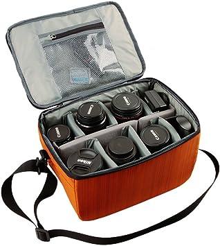 K /& fconcept Camera Gadget DSLR De Hombro Bolso Mensajero//para Sony Canon Nikon