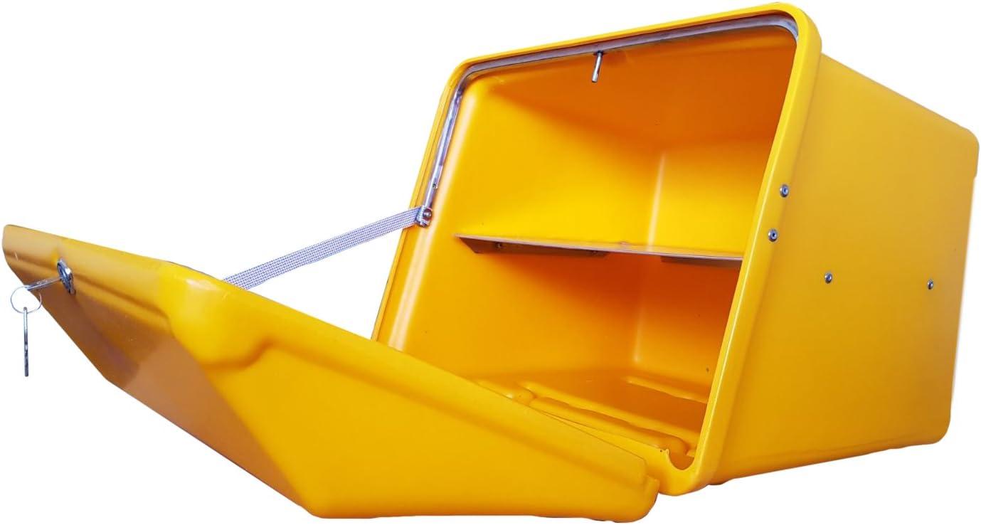 Portaequipajes Moto baúl Reparto Amarillo/Amarillo con Bandeja y Reflectantes homologados, Cierre Cerradura: Amazon.es: Coche y moto