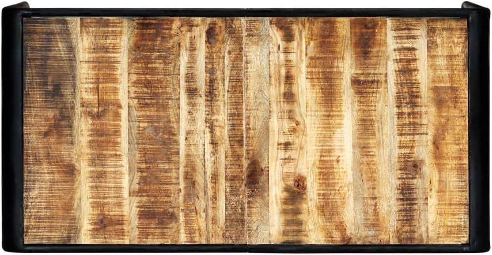 FAMIROSA Table de Salle /à Manger 140x70x76 cm Bois de manguier Brut