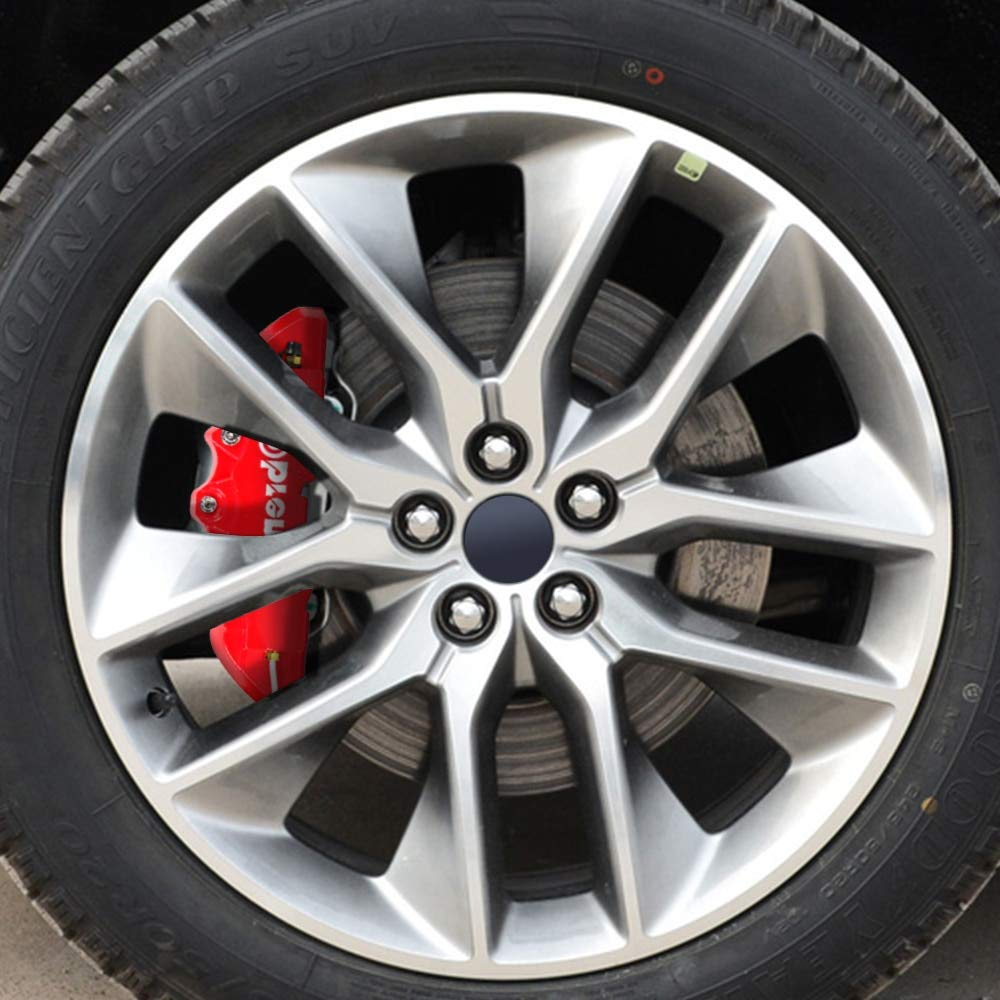 Pinza trasera de plastico ABS cubiertas de cami/ón rojo 3D en relieve cubre coche universal Brem Fit alicates pinza de freno de disco cubiertas delantera y trasera