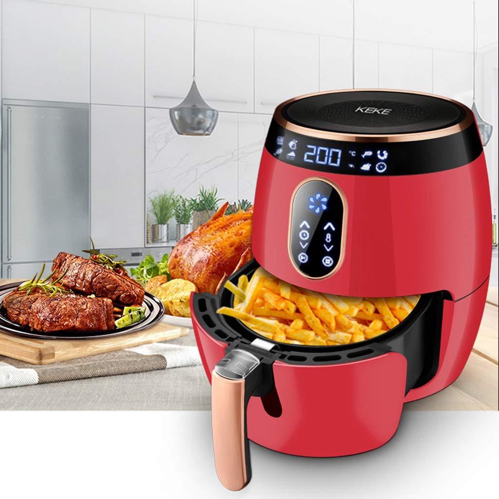 RXY-Air fryer フライドポテト機械食品健康加熱は、グリースの無煙焦げ付き防止のパンの空気フライヤーの減量の必要性を減らします (Color : Red)  Red B07SMTKR7Q
