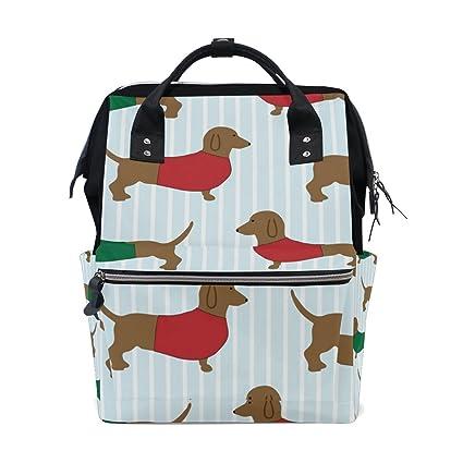 BENNIGIRY Dachshund bolsa de pañales para perro, gran capacidad, bolsas de viaje para pañales