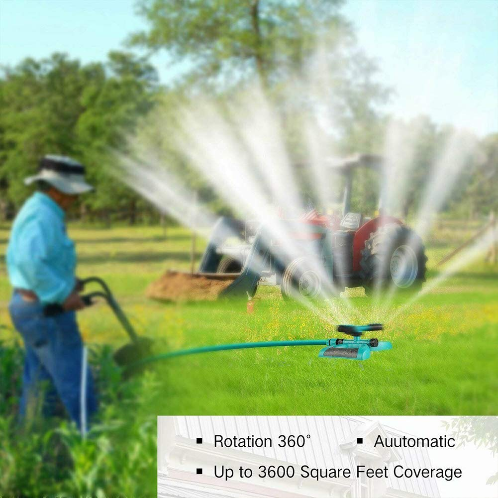 Water Sprayer Lawn Sprinkler Irrigation System for Large Areas Entire Lawn Garden Watering Pants Vidillo Garden Sprinkler System Automatic 360 Rotating Adjustable Lawn Water Sprinkler Head