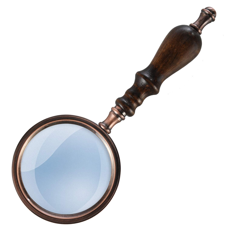 非売品 実用的な拡大鏡 5倍手持ち虫眼鏡、木製ハンドル、レトロ風青銅虫眼鏡、趣味高齢者読書、黄斑変性 実地調査 B07Q375GH5、科学研究 B07Q375GH5, 下郷町:78c12dd4 --- berkultura.ru