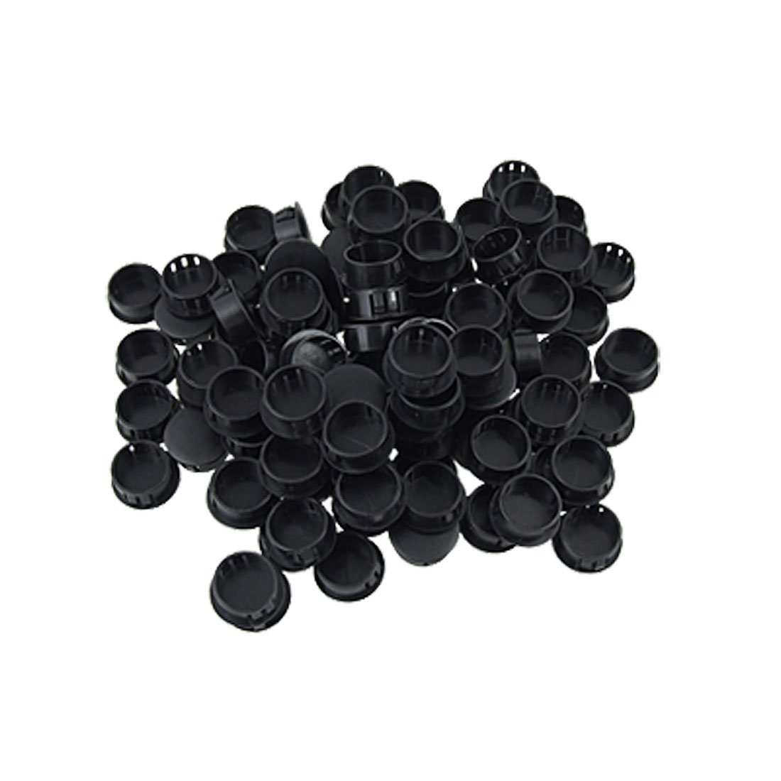 100 Pieces Black Plastic 5/8'' Dia Hole Locking Plugs